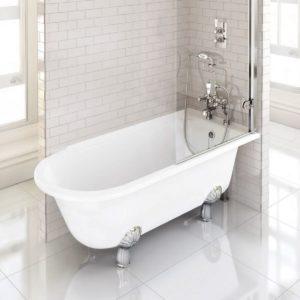 Claremont Bath Shower Mixer Deck Mounted