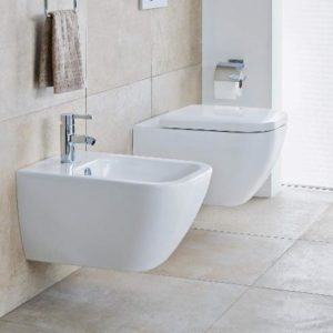 Happy D.2 wall-hung WC and bidet by Duravit