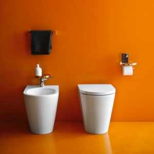 Kartell floorstanding WC and bidet by Laufen
