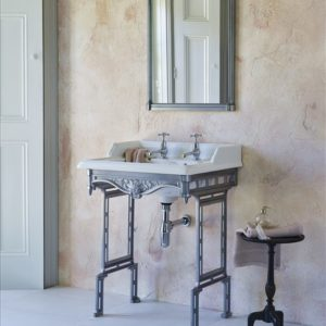 Classic basin with aluminium stand by Burlington