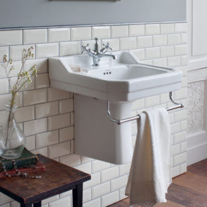 Edwardian basin with semi pedestal by Burlington