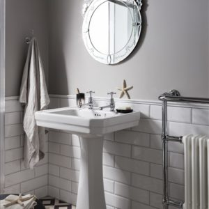 Victorian basin with pedestal by Burlington