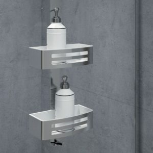 Double hanging basket by Novellini