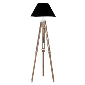 Floor lamp Telescope nickel by Eichholtz