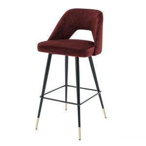 Bar stool Avorio Roche bordeaux by Eichholtz