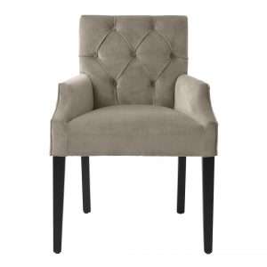 Dining chair Savona greige velvet  by Eichholtz