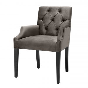 Dining chair Savona grey velvet  by Eichholtz