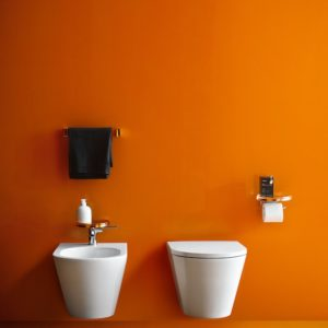Kartell wall-hung WC and bidet by Laufen