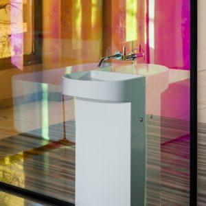 Sonar washbasin by Laufen