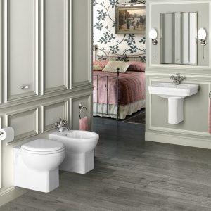Wall-hung WC and bidet by Burlington
