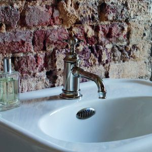 Arcade mini basin mixer by Burlington