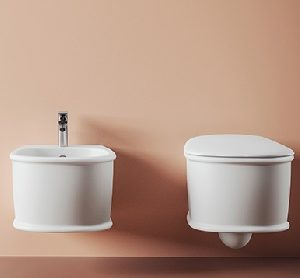 Atelier wall hung bidet by ArtCeram