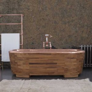 Sampan copper bath by Hurlingham