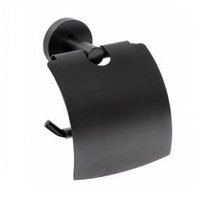 DARK Paper holder with cover by Bemeta