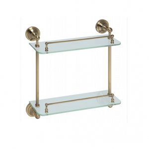 RETRO Double glass shelf by Bemeta