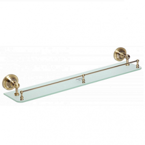 RETRO Glass shelf with rail by Bemeta
