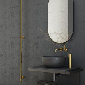 Asket gold towel rail by Sunerzha