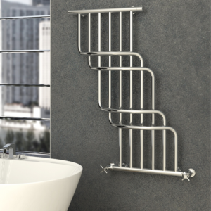 Cascade Bis chrome towel rail by Sunerzha