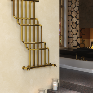 Cascade Bis gold towel rail by Sunerzha