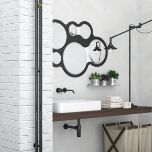 Nuance black pearl towel rail by Sunerzha