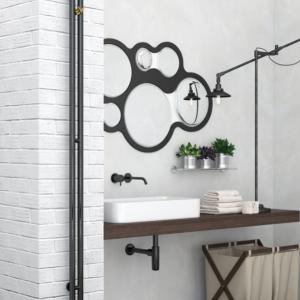 Nuance black pearl towel rail by Sunerzha