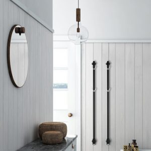 Limbo black towel rail by Pax
