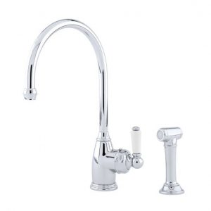 Parthian Single Lever Sink Mixer with Rinse by Perrin&Rowe