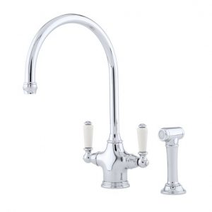Phoenician Sink Mixer with Rinse by Perrin&Rowe