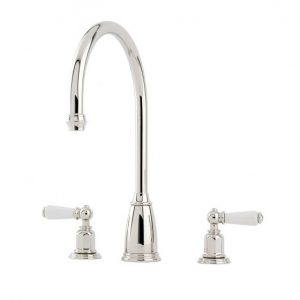 Athenian Sink Mixer with Lever Handles by Perrin&Rowe