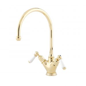 Minoan Sink Mixer with Lever Handles by Perrin&Rowe